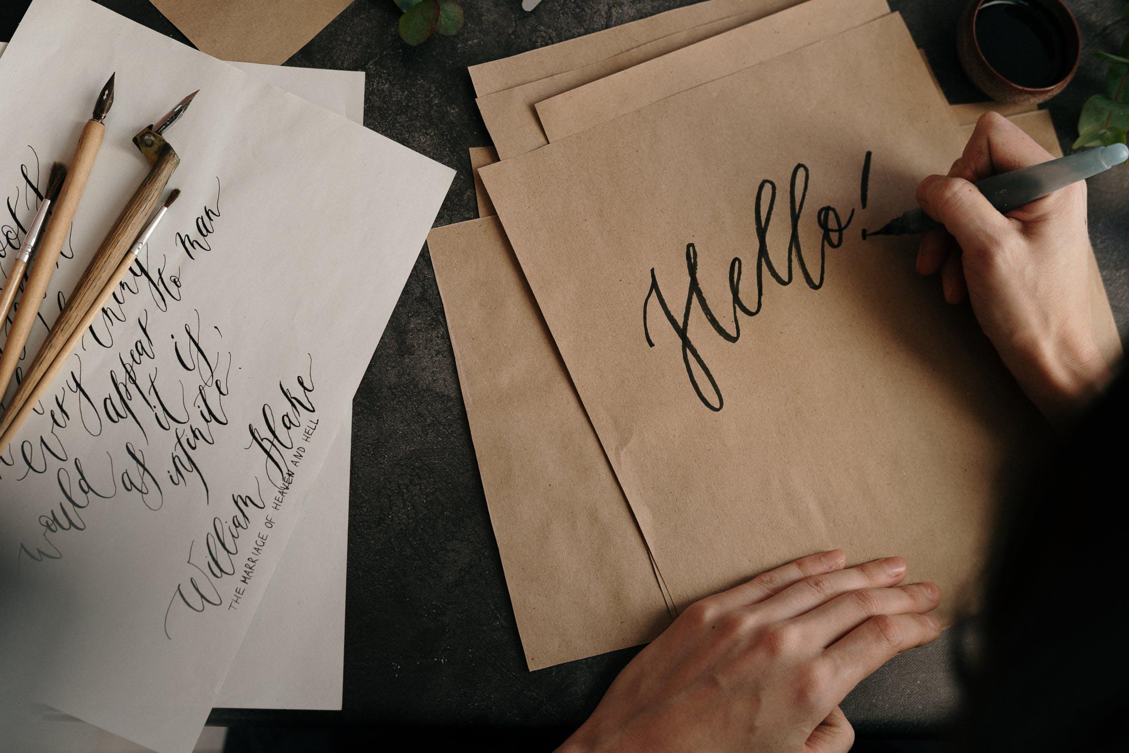 calligraphy hobby