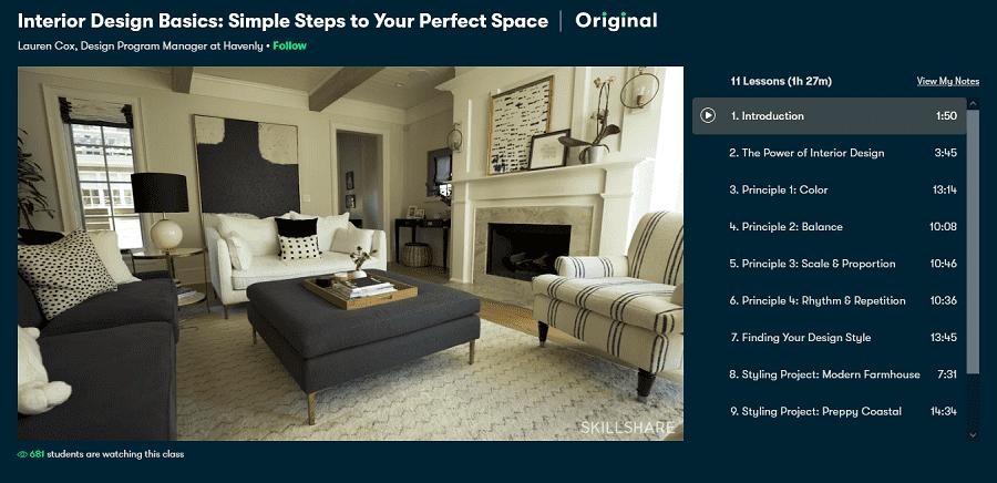 skillshare interior design basics