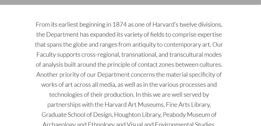 Harvard University History of Architecture