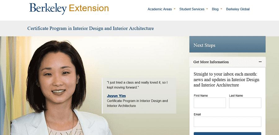 UC Berkeley Extension for online interior design courses