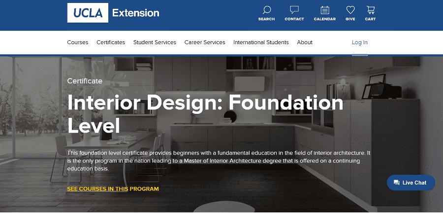 UCLA Interior Design Foundation Level
