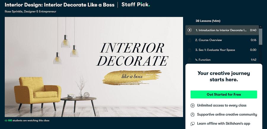 free online interior design course